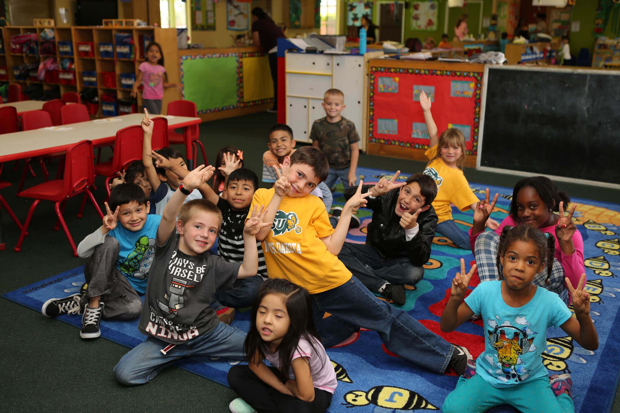 Sierra Preschool children learning geography